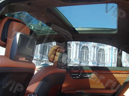 Арендовать Mercedes W221 с рыжим салоном